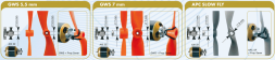 UNIVERSAL PROP SAVER SET FOR RADIAL MOUNTING (only for motors V1)
